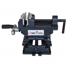 "HRMCTOOL 4"" X-Y Compound Cross Slide Vise Drill Press Vice Clamp Tool"