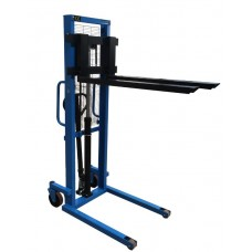 """Manual Pallet Stacker 2200Lbs Capacity 63"""" Lift Height 8.8""""-28.7"""" W Fork"""