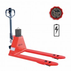 "Semi Electric Pallet Jack capacity 3000lbs  48""L×27""W Fork"
