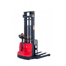 Full Electric Stacker 2200lbs Capacity 130'' Max lifting height adjustable Straddle