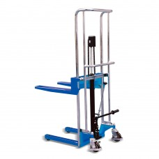 "Manual lift Stacker 880Lbs Capacity 60"" Max Lifting Height"