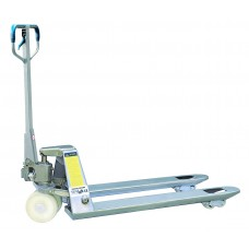 "Manual Galvanized Pallet Jack Truck 5500lbs Capacity 48""L×27""W Fork BFG"
