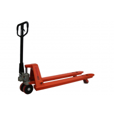 "Narrow Manual Pallet Jack 5500 lbs Capacity 48""L × 21""W Fork"