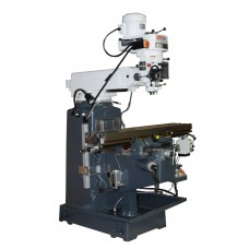 "10"" x 50"" Multiple Speed Vertical Turret Drill Milling Machine with DRO Powerfeed"