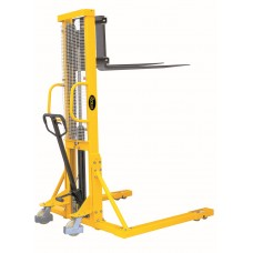 """Manual Pallet Stacker 2200lbs Capacity 63"""" Lift Height Adjustable Fork width From 7.9"""" to 37.4"""" SDJAS1016"""