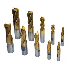 10 PCS END MILL SET, TIN COATED WITH HSS MATERIAL | EMS-10