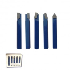"""5 PCS INCH SIZE CARBIDE TIPPED TOOL SET 3/4"""" SHANK 