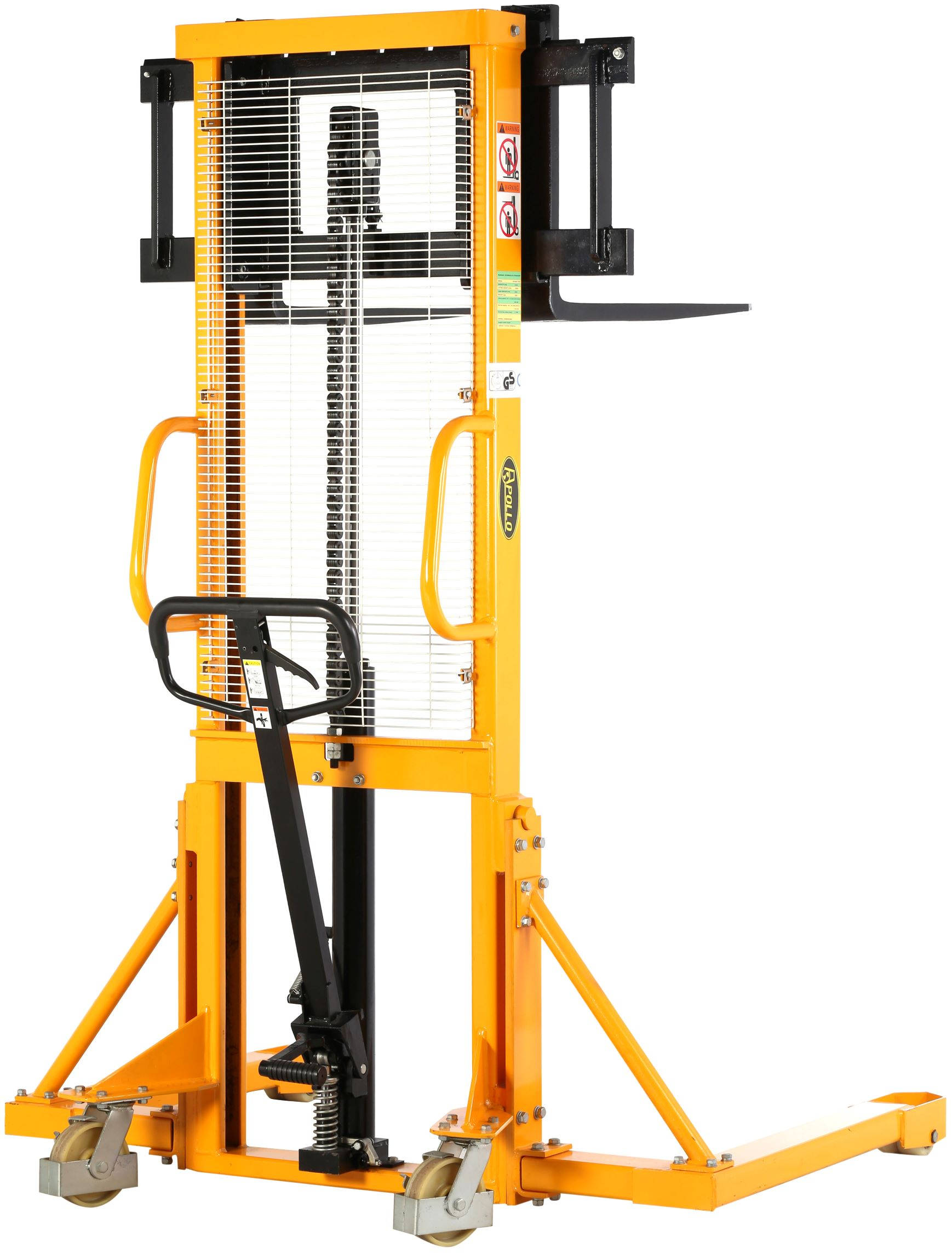 Apollolift Manual Stacker 2200lbs Capacity 63 Lift Height Adjustable Fork