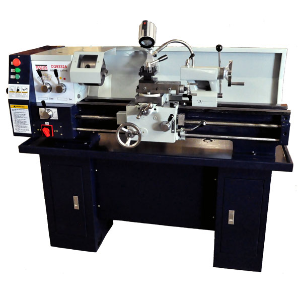 Gear-Head Metal Lathe With Stand & Coolant