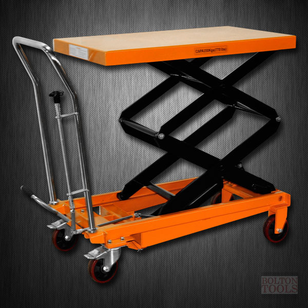 Hydraulic Double Scissor Lift Table Cart 770 Lb Tf35
