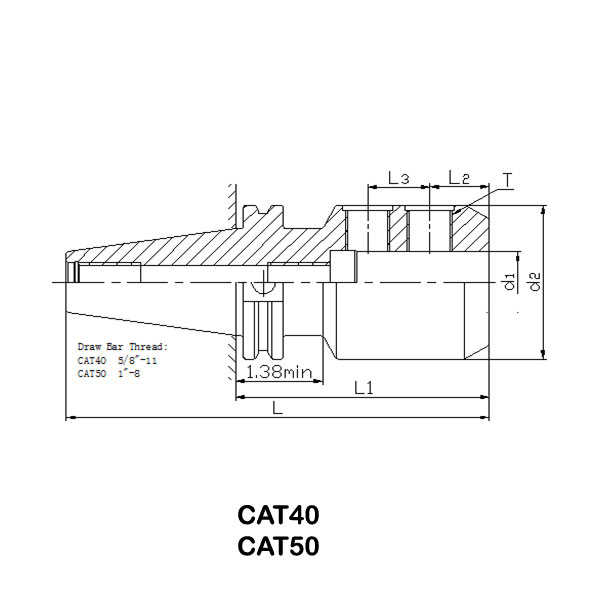 CAT 50 End Mill Holder