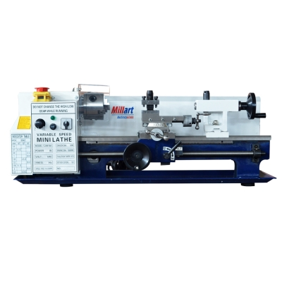 "7"" × 14"" Variable Speed Benchtop Mini Metal Lathe Digital 110V"