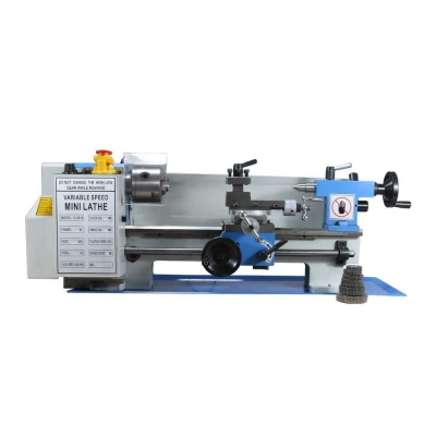 "7"" × 12"" Variable Speed Benchtop Mini Metal Lathe Spindle MT3 1/2HP"