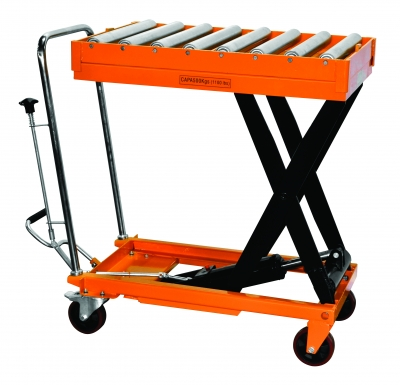 Hydraulic Scissor Roller Top Lift Table Cart | 1100 lb | TF50R