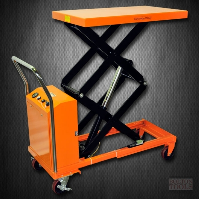 Hydraulic Hand Electric Table Truck | 770 lb | ETF35